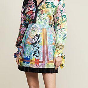 VERSACE Pleated Baroque Mini Skirt In Mult